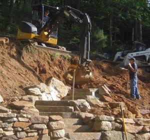 CLC Landscape Design, stone walls