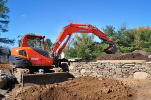 CLC Landscape Design, natural stone retaining wall