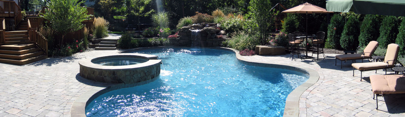 Deck, Pool, Spa, Waterfall, Landscaping - North Jersey