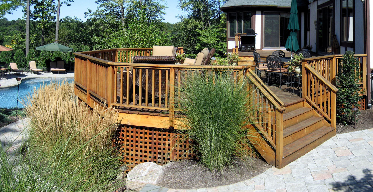 Cedar Deck, Lattice Skirting - North Jersey