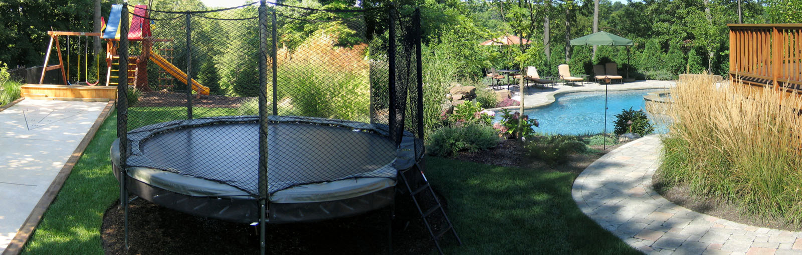Play Area, Trampoline, Pool, & Walkway - North Jersey