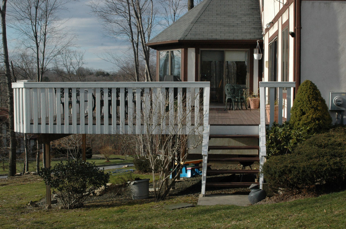 before and after landscape pictures, before, deck design