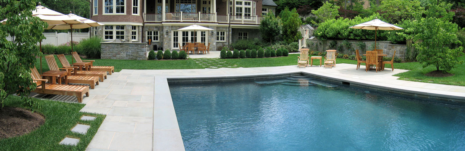 before and after landscape pictures, after, nj swimming pool design