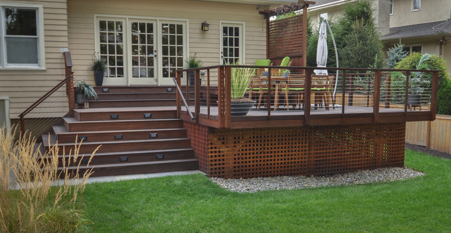 before and after landscape pictures, after, deck design nj, ipe deck