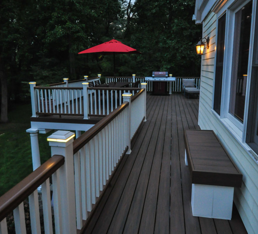 Deck Railing Cap Lights - North Jersey