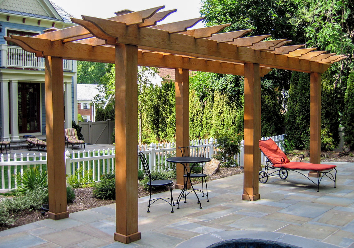 pergola on pool patio