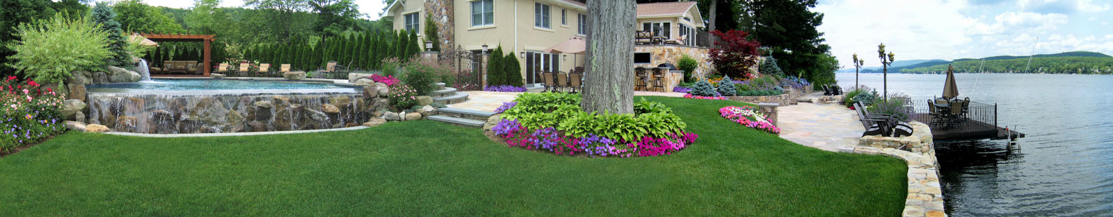 infinity pool and pool landscaping - nj