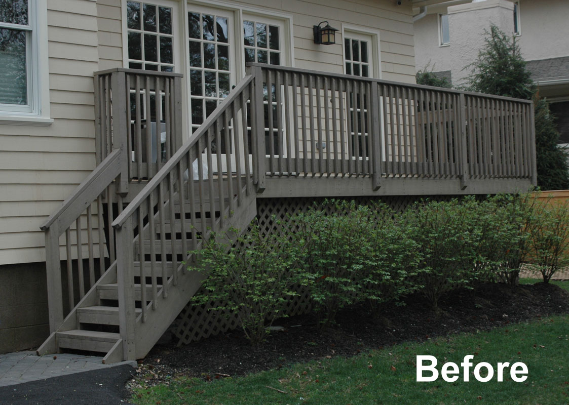 before photo existing deck - north jersey