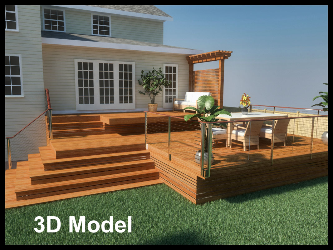 3d rendering of deck - north jersey