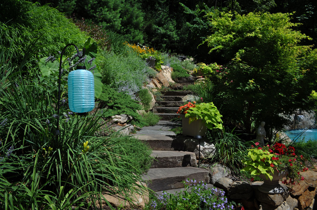 planting design on steep slope