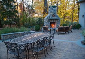 NJ Landscape Designer, Outdoor Fireplace