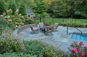 NJ slate patio, blue stone