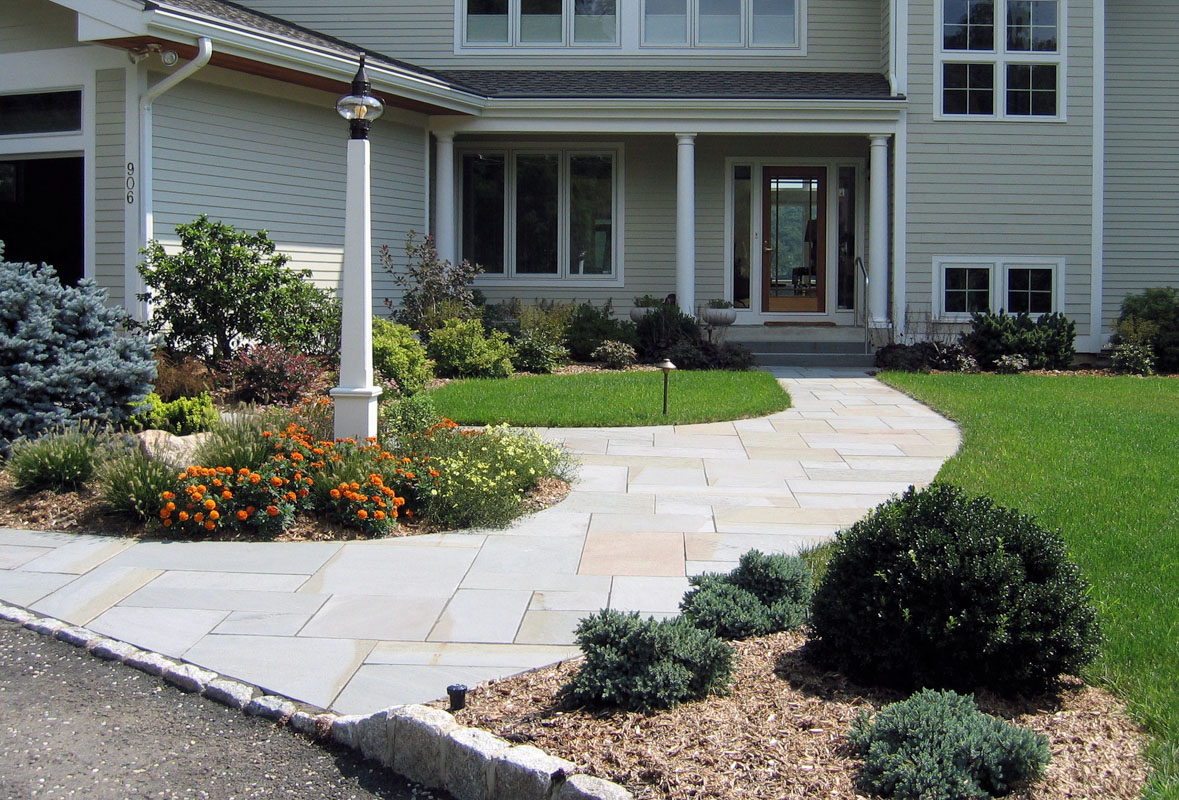 bluestone front walkway, curb appeal in wayne