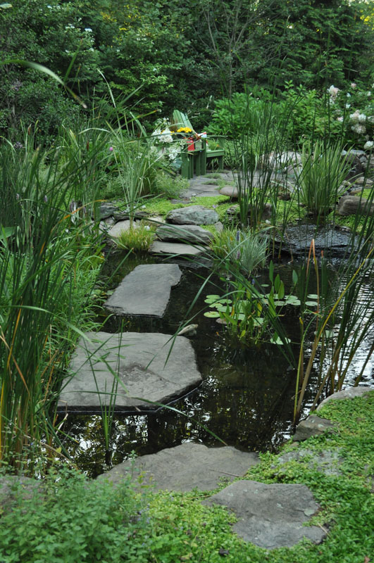 Stepping Stones Create Walkway in this New Jersey Water Garden