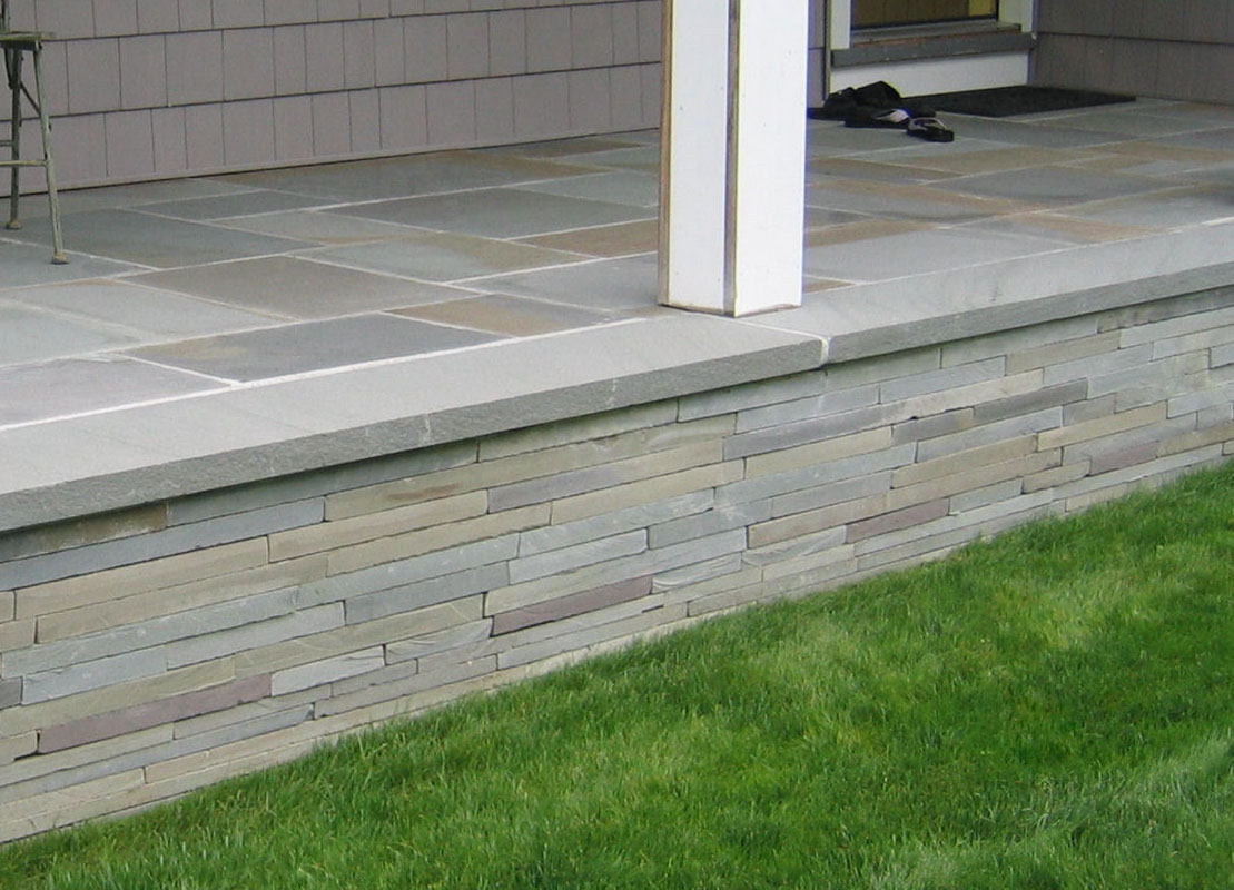 bluestone porch with bluestone veneer