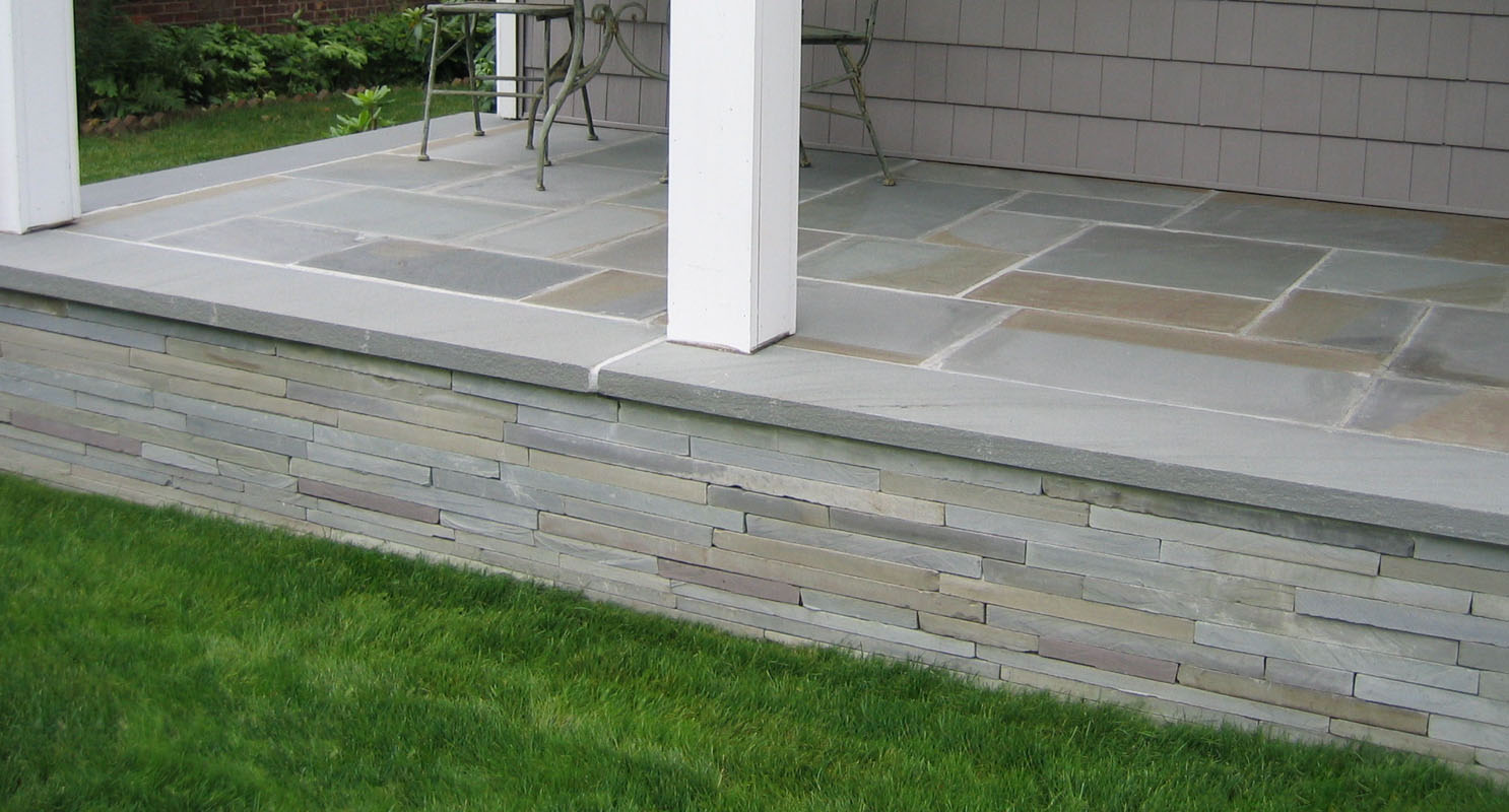 nj porch with bluestone veneer