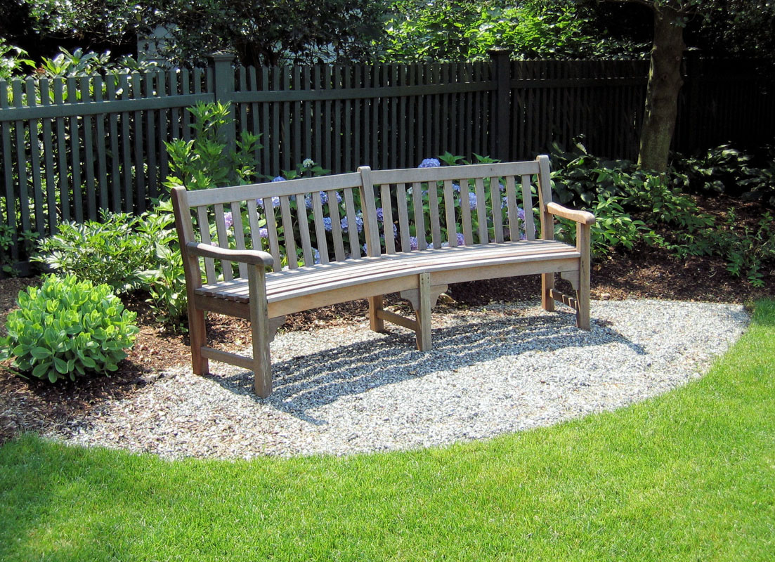 Pea Gravel Patio Featuring Bench Seating - Westfield, NJ ... on landscape bench drawing, landscape tree designs, landscape arbor designs, landscape bench dimensions, landscape bridge designs, landscape bed designs, landscape wall designs, landscape bench details, landscape garden designs, landscape fence designs, landscape bench graphics, landscape art designs, landscape park designs,