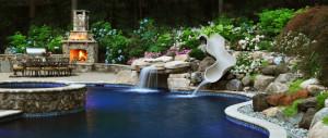 Woodcliff, NJ, patio and custom pool design