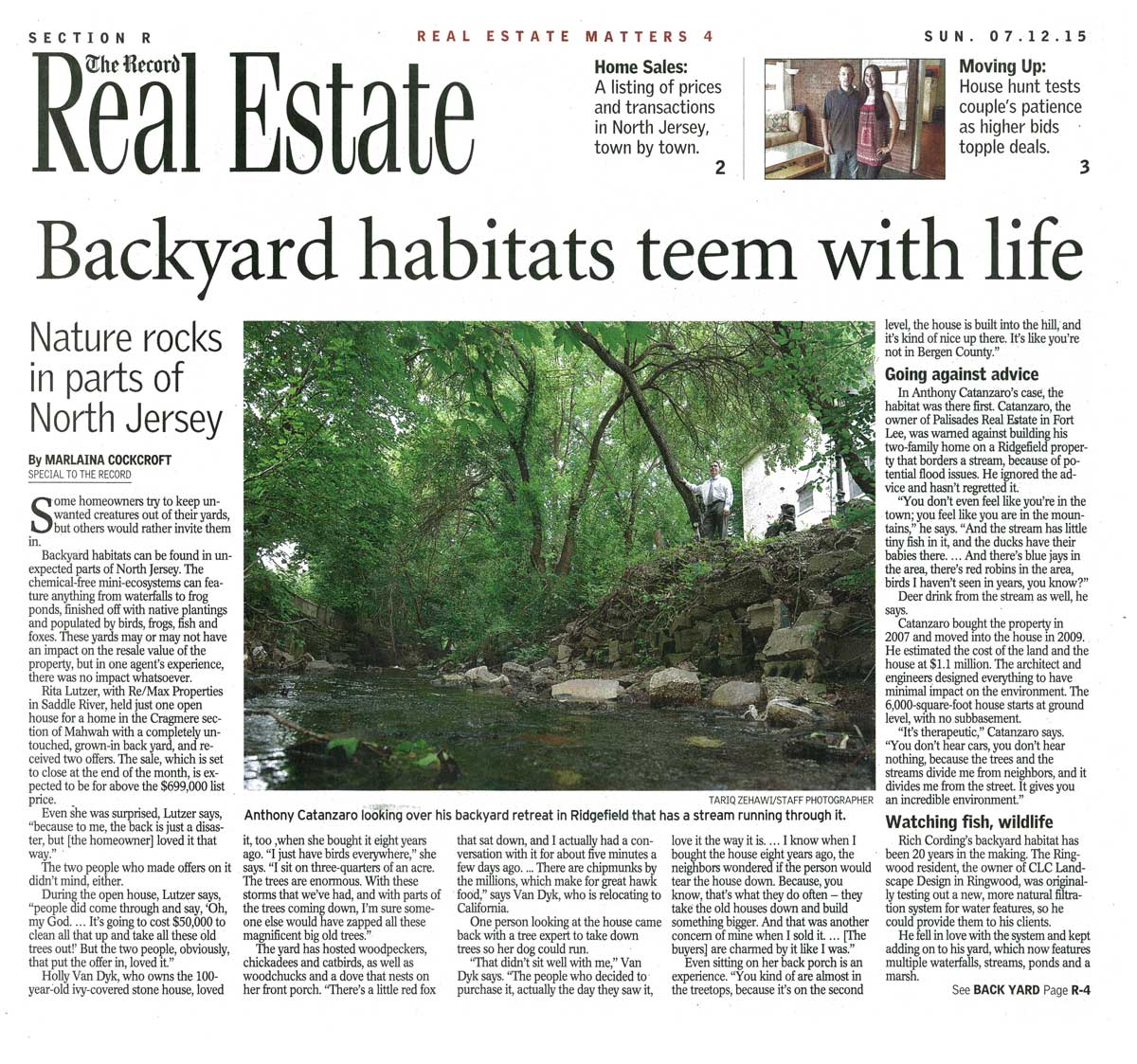 Article in The Record about Backyard Habitats - Page 1