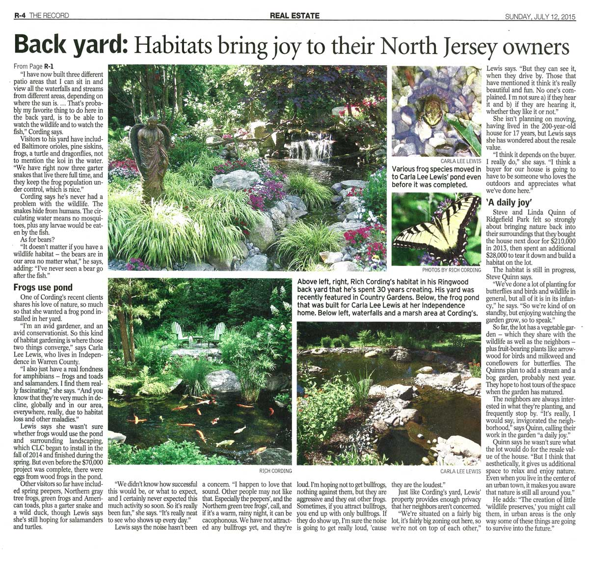 Article in The Record about Backyard Habitats - Page 2
