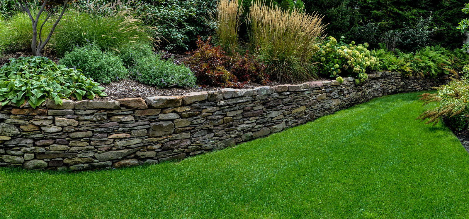 Landscape design services clc landscape design for Rock wall garden designs