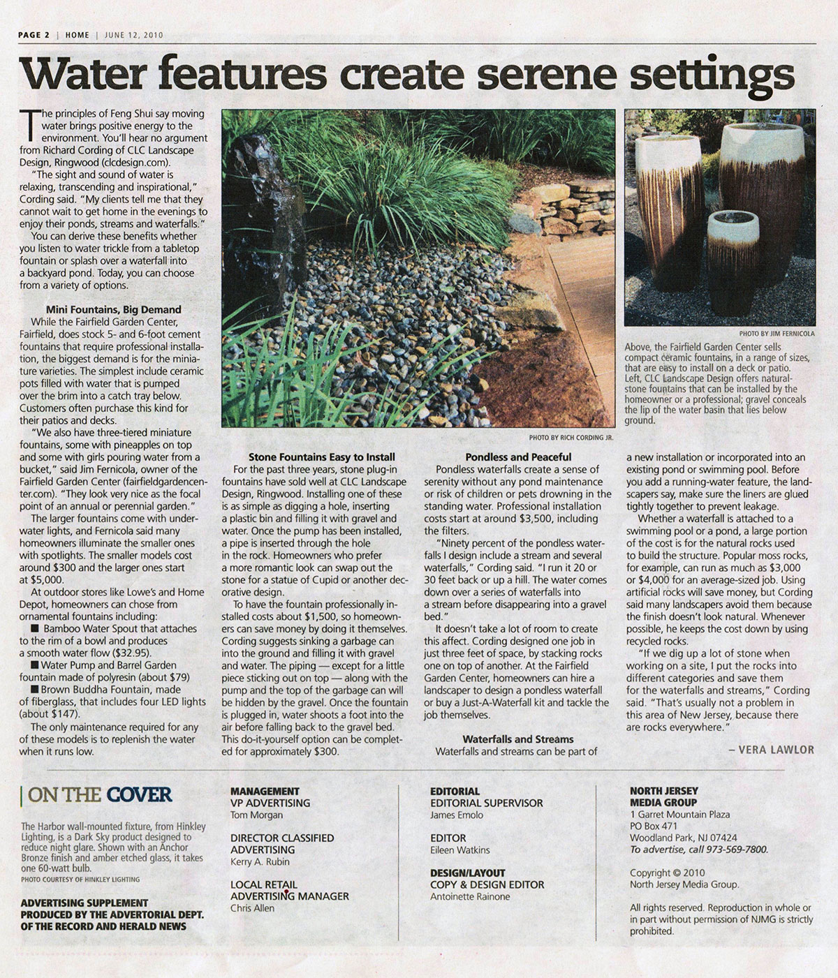 The Record - Water Features Create Backyard Serenity (page 1)
