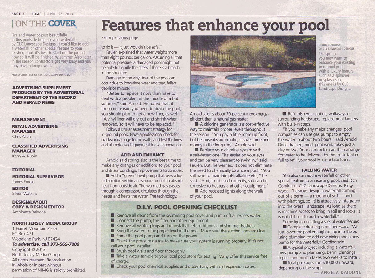 The Record - Features That Enhance Your Swimming Pool (page 1)