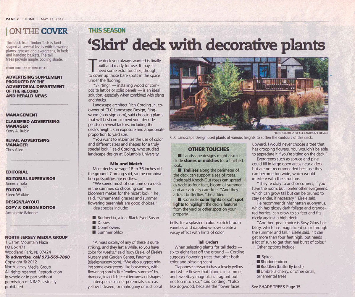 The Record - Plantings Around NJ Deck (page 1)