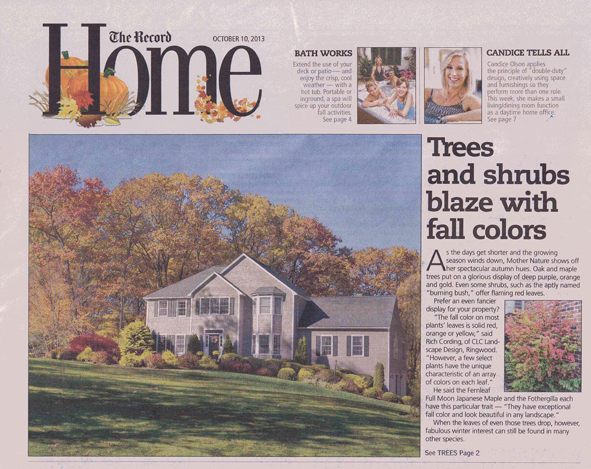 The Record - Best Plants For Fall Color in NJ (cover)