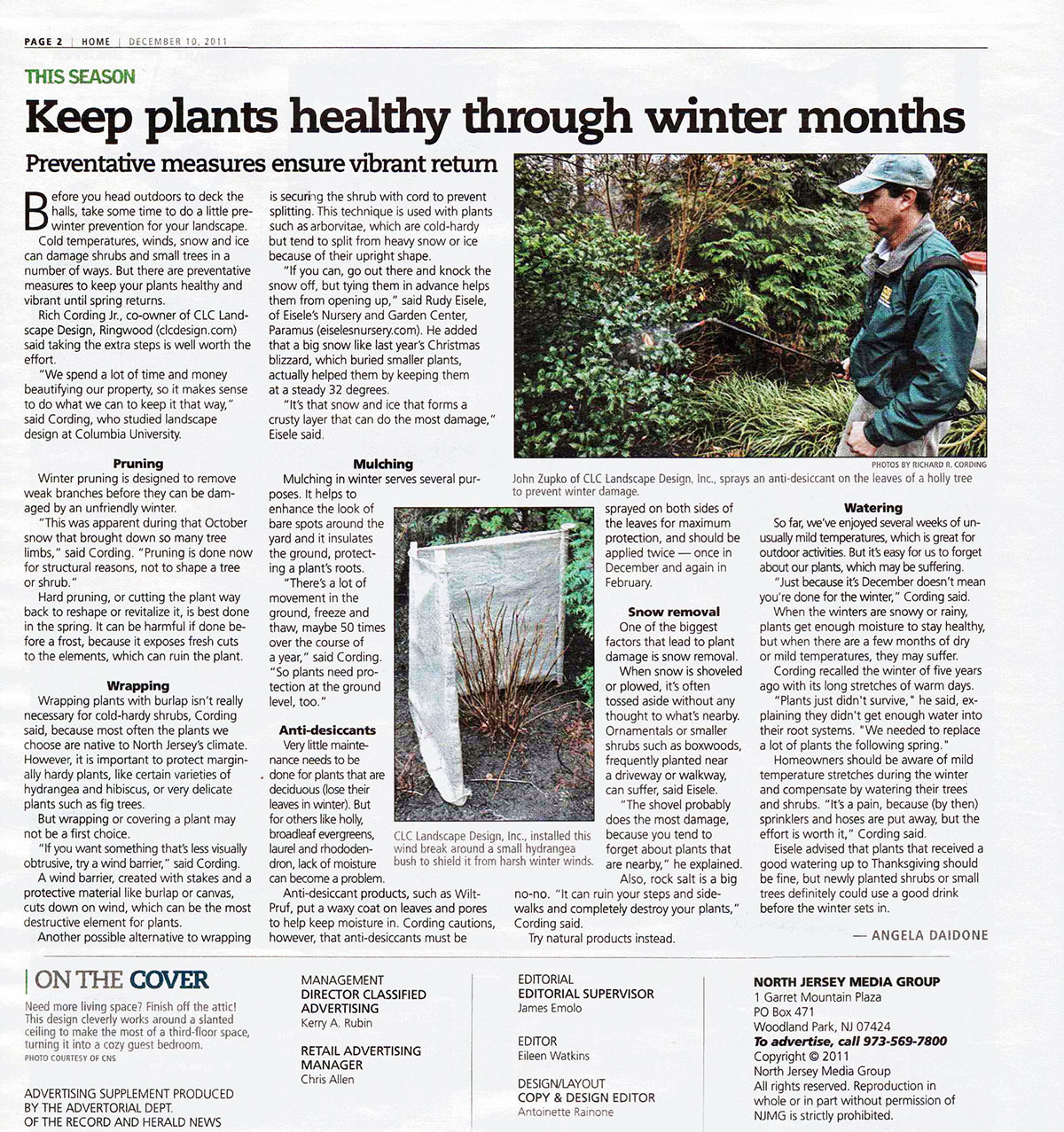 The Record - Keep Plants Healthy Through NJ Winter (page 1)