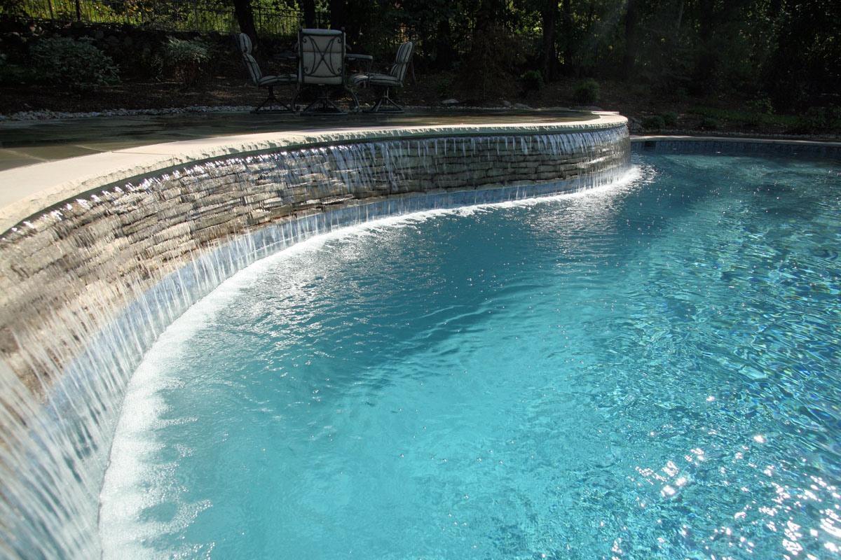 Pool design nj clc landscape design for Pool design waterfall
