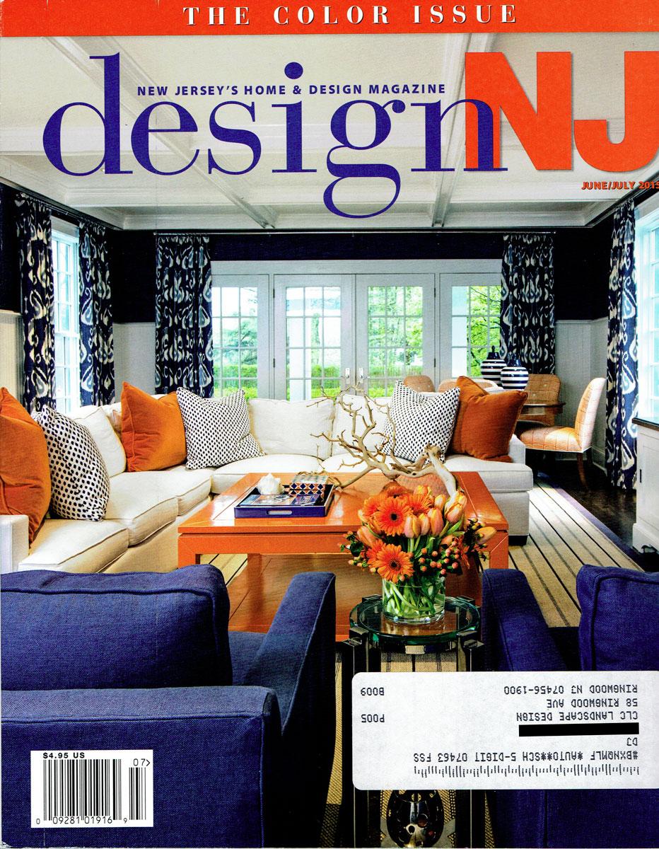 Cover of Design NJ June / July 2015 featuring CLC Landscape Design