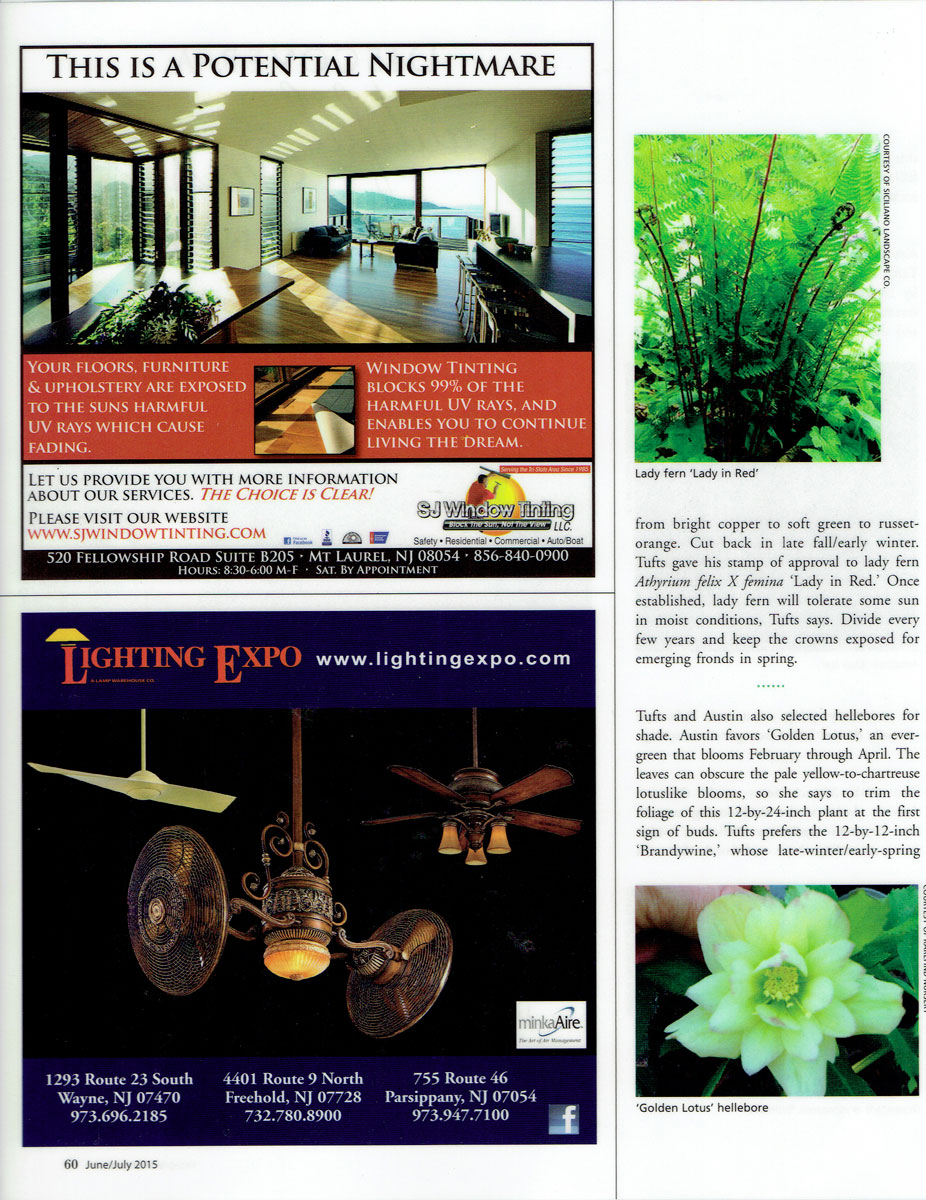 Fifth page of Design NJ article on low-growing perennials featuring CLC Landscape Design
