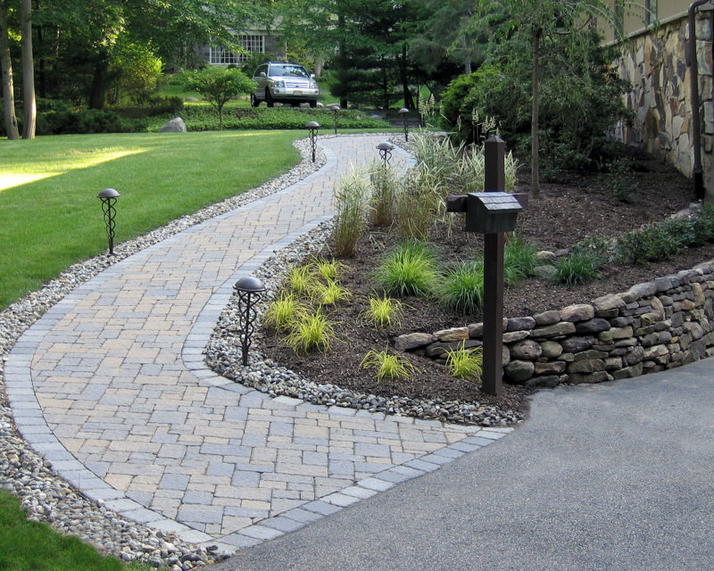kinnelon nj landscape design, walkway