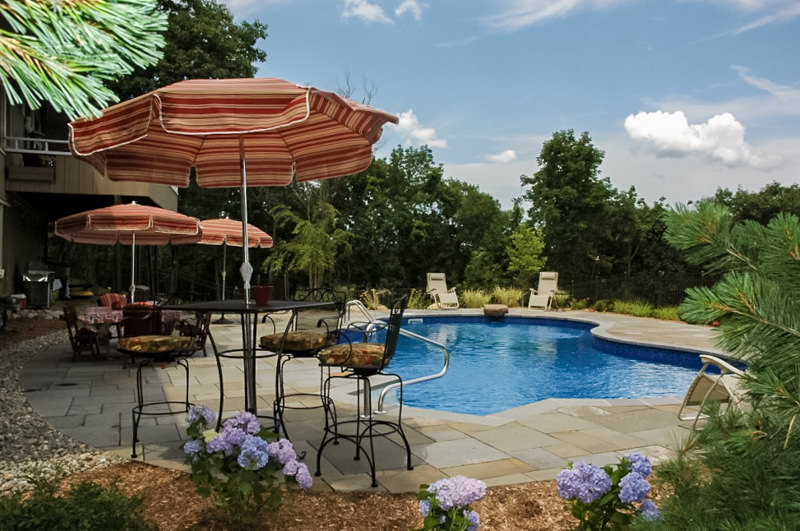 kinnelon nj landscape design, swimming pool, patio