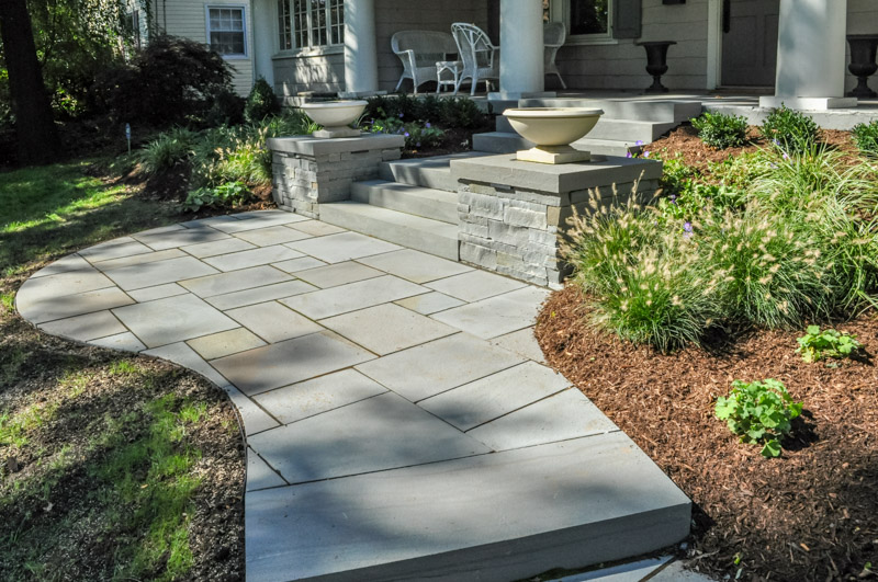 montclair nj landscape design, natural stone walkway