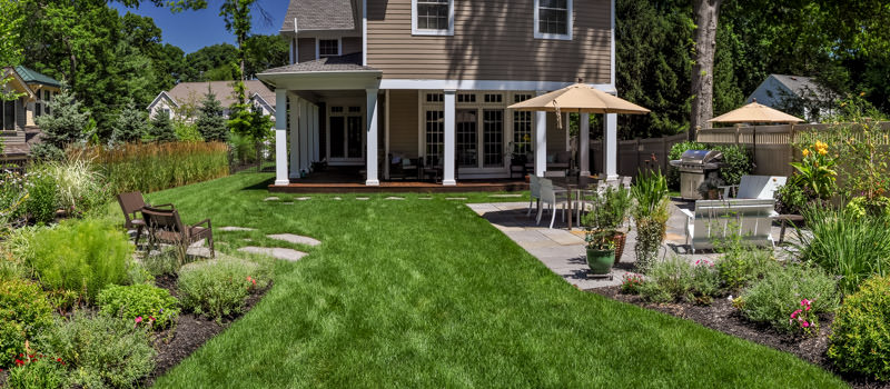ridgewood nj landscape design, patio, plantings
