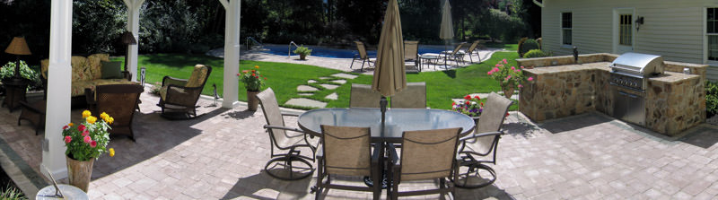wyckoff nj landscape design, patio, pool, outdoor kitchen