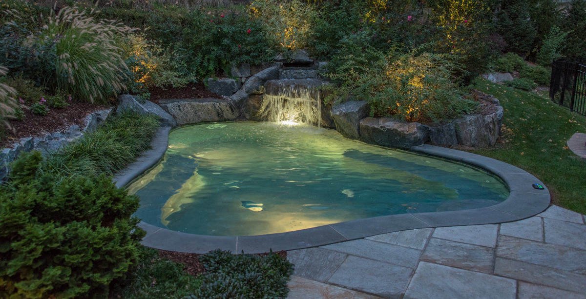 Franklin lakes backyard retreat clc landscape design for Deer lake swimming pool schedule
