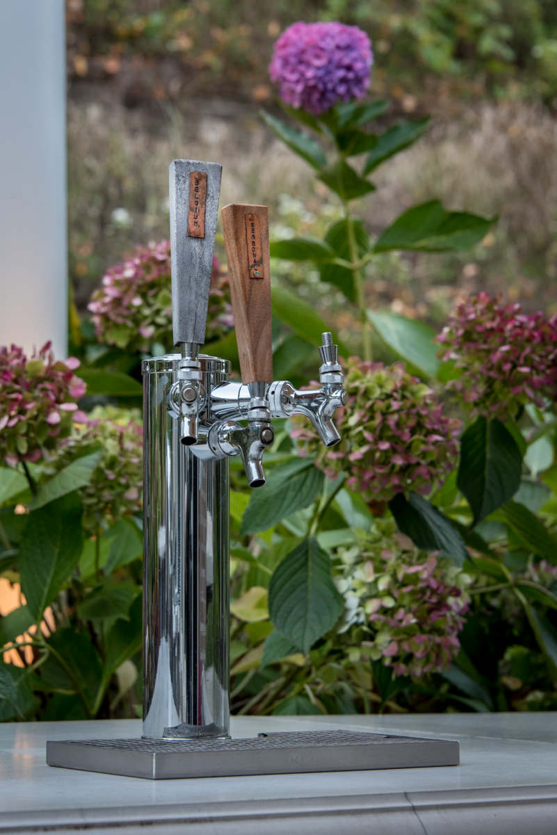 closeup of tap in outdoor kitchen