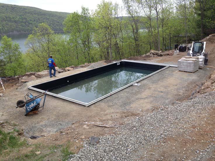 Finishing Construction of Vinyl Liner Swimming Pool