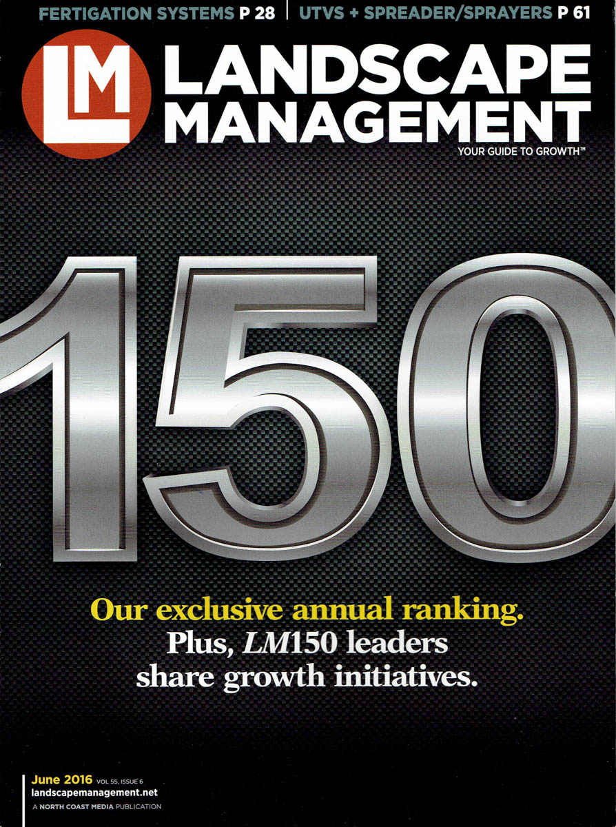 cover of landscape management magazine june 2016
