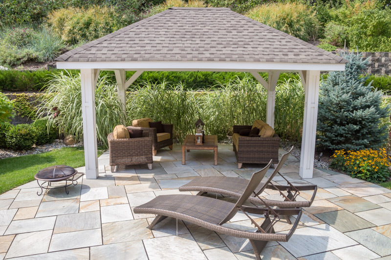 gazebo on a patio, landscape design montville nj