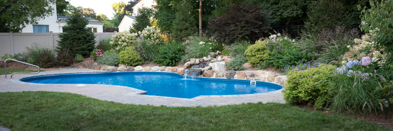madison nj pool and surrounding landscape