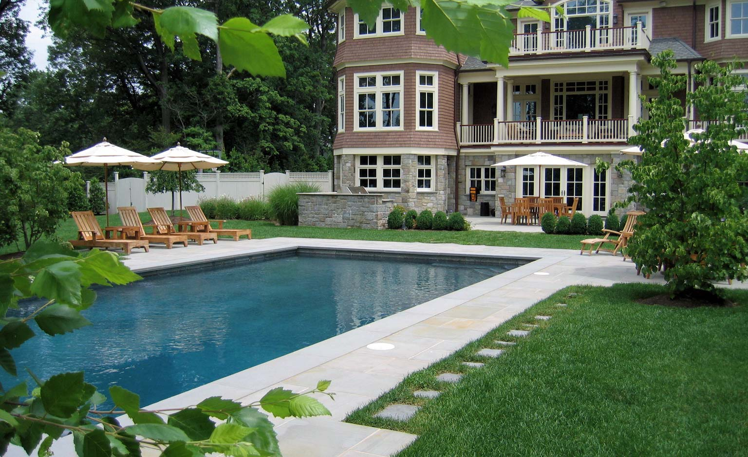 Before after landscaping photos clc landscape design for Pool landscaping pictures