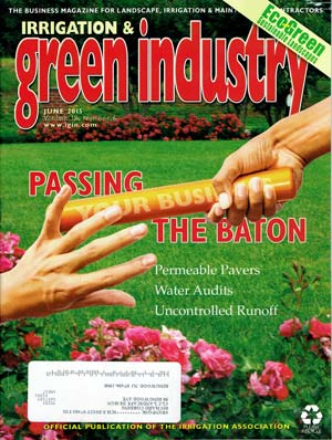 Cover of Irrigation & Green Industry featuring CLC Landscape Design