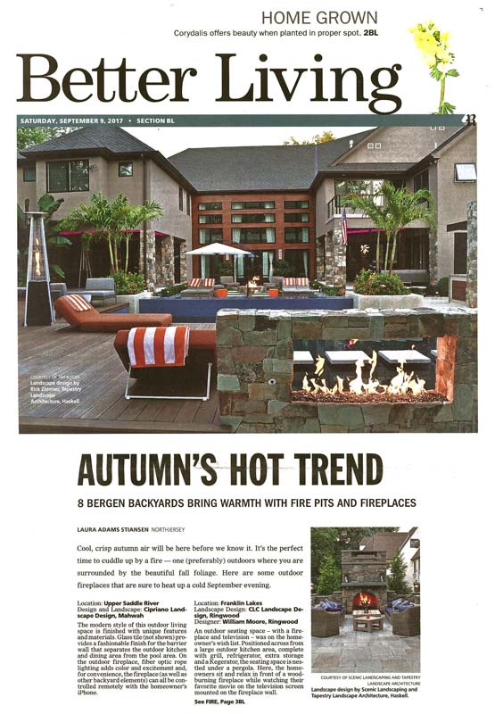 clc landscape design in the record - fire pits and fireplaces (cover)