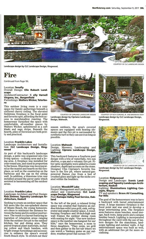 clc landscape design in the record - fire pits and fireplaces (article)