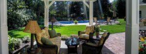 Wyckoff, NJ, stone patio and custom pool design