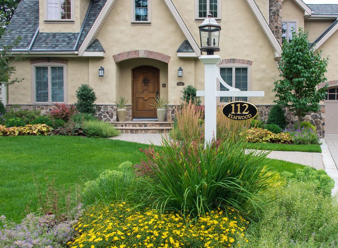 Ho ho kus front yard landscape design clc landscape design for Landscape design nj